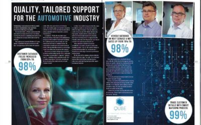Maintaining a local presence in the big world of vehicle manufacturers has kept Qube Automotive at the top of its sector.